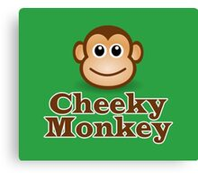 Cheeky Monkey - Funny Toon Face Sticker Canvas Print
