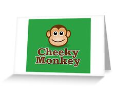 Cheeky Monkey - Funny Toon Face Sticker Greeting Card