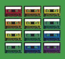 Cassette Rainbow One Piece - Short Sleeve