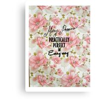 Mary Poppins Practically Perfect Canvas Print