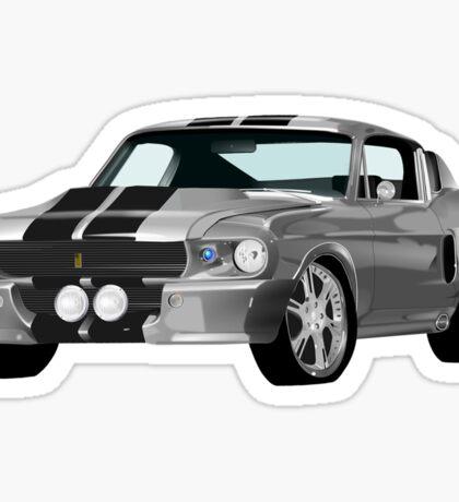 Ford Mustang - Muscle Car T-Shirt Sticker Sticker