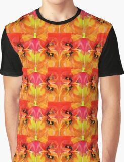 Tangerine Tulips Graphic T-Shirt