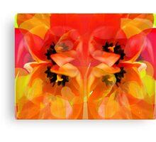 Tangerine Tulips Canvas Print