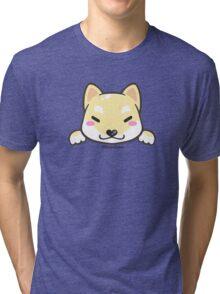 Cute Shiba Inu Puppy (Cream) Tri-blend T-Shirt