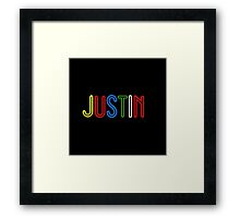 Justin - Your Personalised Products Framed Print