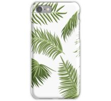 Green Palm Leaves iPhone Case/Skin