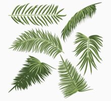 Green Palm Leaves Kids Tee