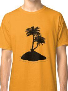 Palm Tree on Island Silhouette Classic T-Shirt