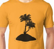 Palm Tree on Island Silhouette Unisex T-Shirt