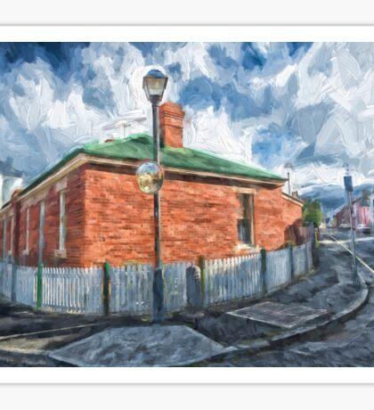 Red Brick House in Hobart Sticker