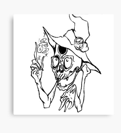 Skelly Wizard Canvas Print