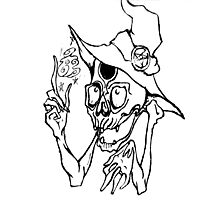 Skelly Wizard Photographic Print