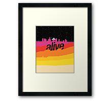 ALIVE scape Framed Print