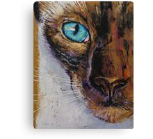 Siamese Cat Painting Canvas Print