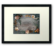 Floral Rustic Border Framed Print