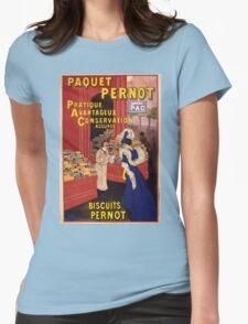 Artist Posters Paquet Pernot Biscuits Pernot Pratique avantageux conservation assurée L Cappiello 0346 (2) Womens Fitted T-Shirt