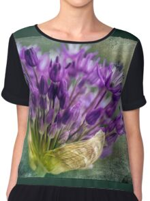 Allium Blossoms Chiffon Top