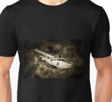 An old style digital painting of a 1930s Grumman Goose  Unisex T-Shirt