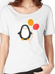 Penguin with balloons Women's Relaxed Fit T-Shirt