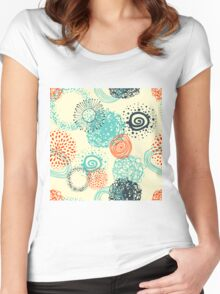 abstract seamless pattern Women's Fitted Scoop T-Shirt