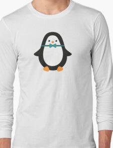 Gentleman penguin. Cute animal. Illustration. Long Sleeve T-Shirt