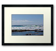 Surfer on Perfect Wave Framed Print