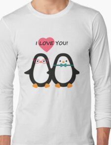 Love the penguins. Cute animals. Long Sleeve T-Shirt