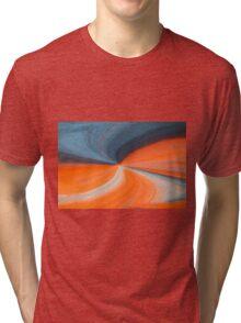 Orange And Blue Art Tri-blend T-Shirt