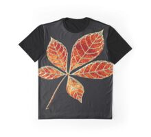 Orange star leaft Graphic T-Shirt