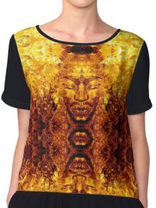Brother Meditation - butterfly explosion Chiffon Top