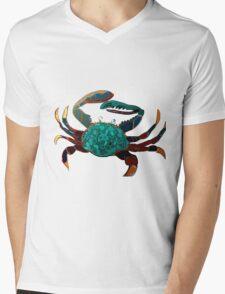Colourful Crab Mens V-Neck T-Shirt