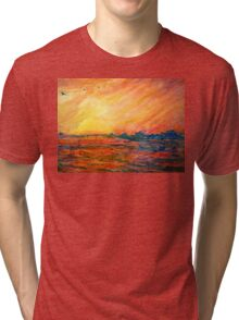 Sunset Departure by Heather Holland Tri-blend T-Shirt