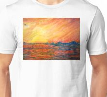 Sunset Departure by Heather Holland Unisex T-Shirt