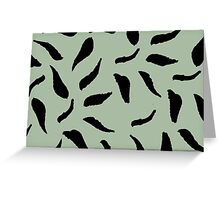 Vine Moss and Black Card Greeting Card
