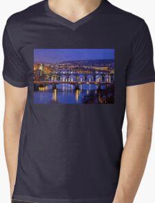Nights in Prague Mens V-Neck T-Shirt