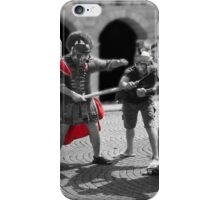 Playing soldier iPhone Case/Skin
