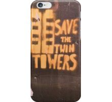 Brown Towers -Square  iPhone Case/Skin
