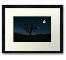 Moon Beams Framed Print