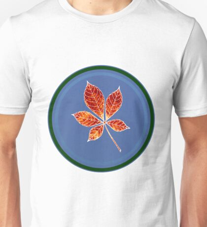 Leaft in circle 1 Unisex T-Shirt