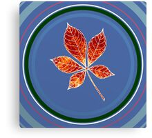 Leaft in circle 1 Canvas Print