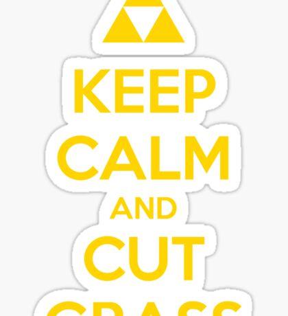 Keep Calm and Cut Grass Sticker