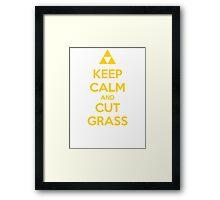 Keep Calm and Cut Grass Framed Print