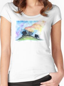 Landscape #1 Women's Fitted Scoop T-Shirt