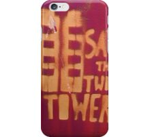 Towers Purple - square  iPhone Case/Skin