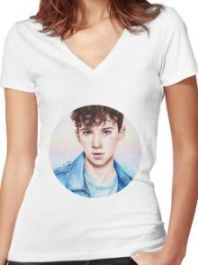 Troye Sivan for Rolling Stones Women's Fitted V-Neck T-Shirt