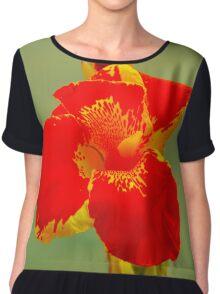 Red flower Chiffon Top
