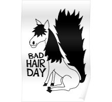 Bad Hair Day Horse Poster