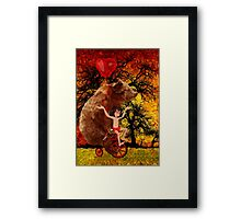 The Honey Bear with Geek Boy iPhone 4 4s 5 5c 6, pillow case, mugs and tshirt  Framed Print