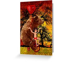 The Honey Bear with Geek Boy iPhone 4 4s 5 5c 6, pillow case, mugs and tshirt  Greeting Card