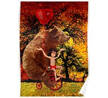 The Honey Bear with Geek Boy iPhone 4 4s 5 5c 6, pillow case, mugs and tshirt  Poster